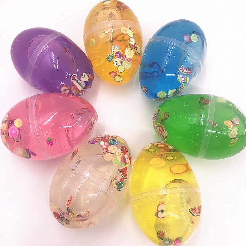 Easter Egg Colorful Soft Fluffy Slime Scented Stress Relief Toy Sludge Stress Relief Toy Sludge Stop Stress Toys For Kids Gift