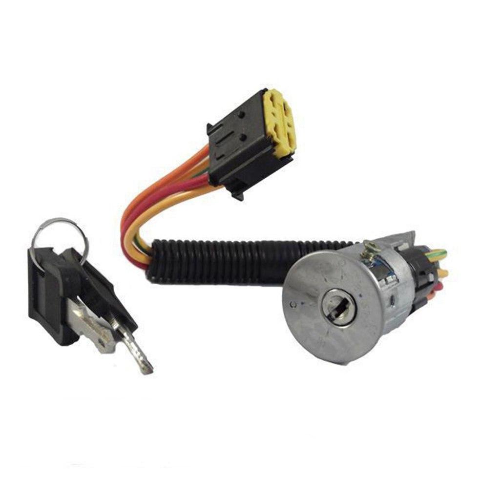 Ignition Lock Switch Barrel + 2 Keys For RENAULT 1998-2005
