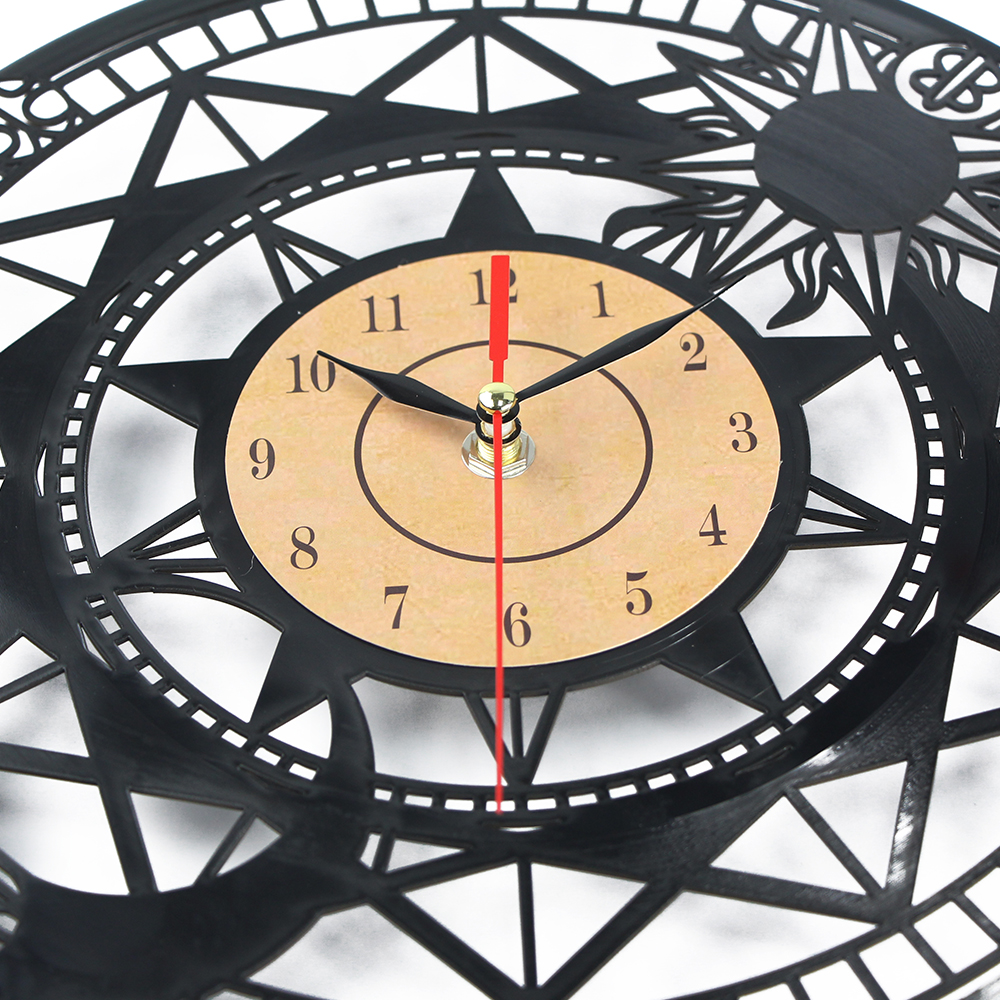 Horloge Murale Large Vinyl CD Record Clock 3D Wall Clock Quartz ...