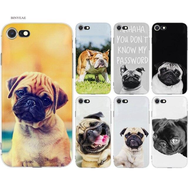 BINYEAE Francês Bulldogs Ingleses Pugs Cão Estilos Coque Macio TPU Tampa Da Caixa Do Silicone para o iphone 7 8 6 6 S mais X 5 5S SE 5C 7 Plus 8