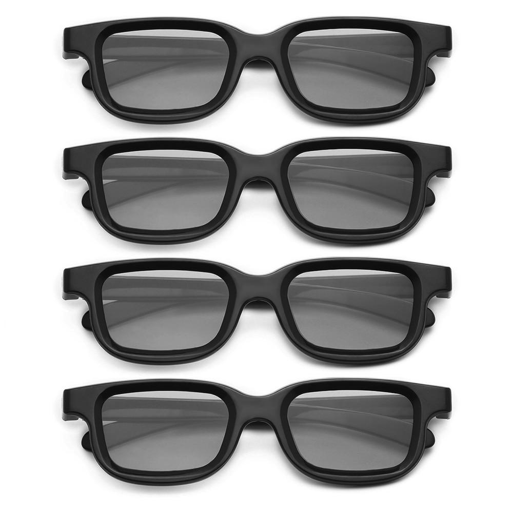 4 шт./лот VQ163R поляризационные пассивные 3D-очки для 3D ТВ, реальные 3D кинотеатра для Sony Panasonic, оптовая цена, дропшиппинг