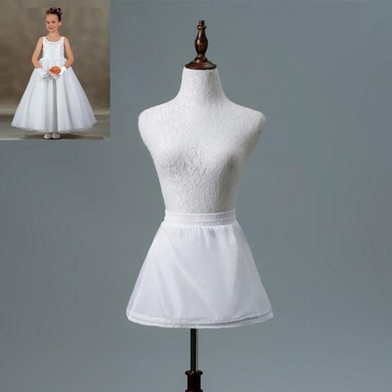 JIERUIZE 1 Hoop Girls Short Dress Petticoat Girls Underskirt Lolita Petticoat Ballet Tutu Skirt Rockabilly Crinoline