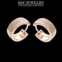 2015 Fashion Women Studs Earrings In Jewelry Luxury Crystal Zircon Stud Earrings Elegant Classic Round Earring