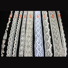 3yard George French White Lace braid Fabrics Wedding African Tulle Fabric 2017 High Quality Cotton PomPom Trim Sew Z1