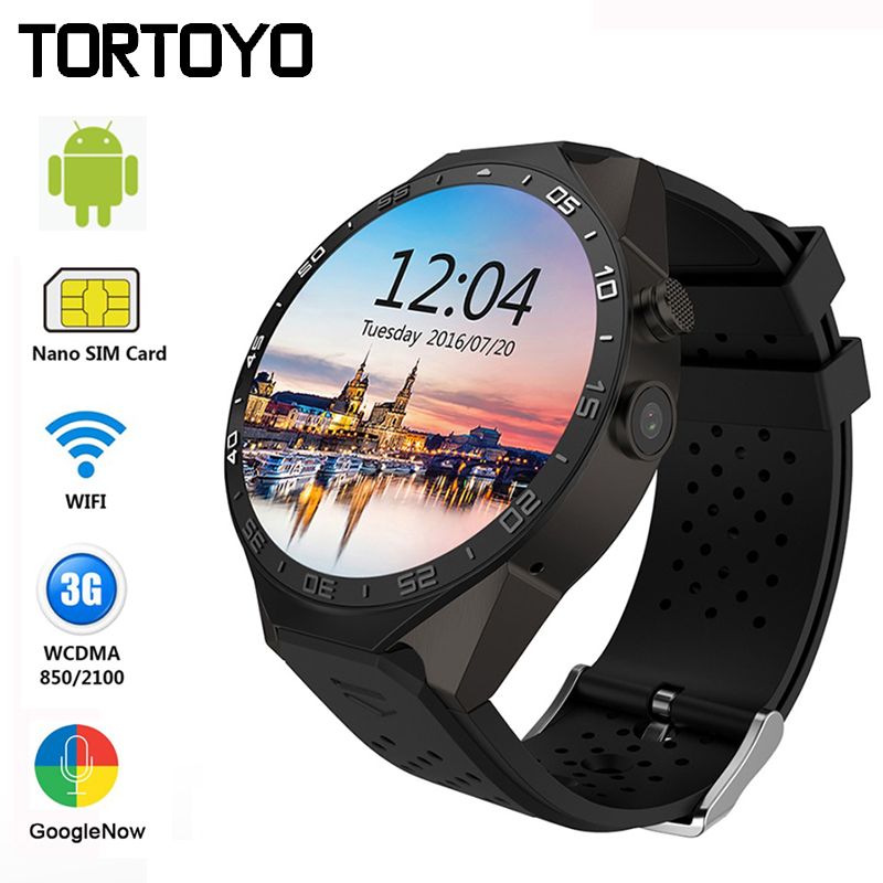 KW88 Wifi Smart Watch Phone Android 5.1 System Sports Round SmartWatch Google Play Accurate GPS Map Pedometers with Touch Camera 696 bluetooth android smart watch gt08 plus support camera nano 3g sim card wifi gps google map google play store wristwatch