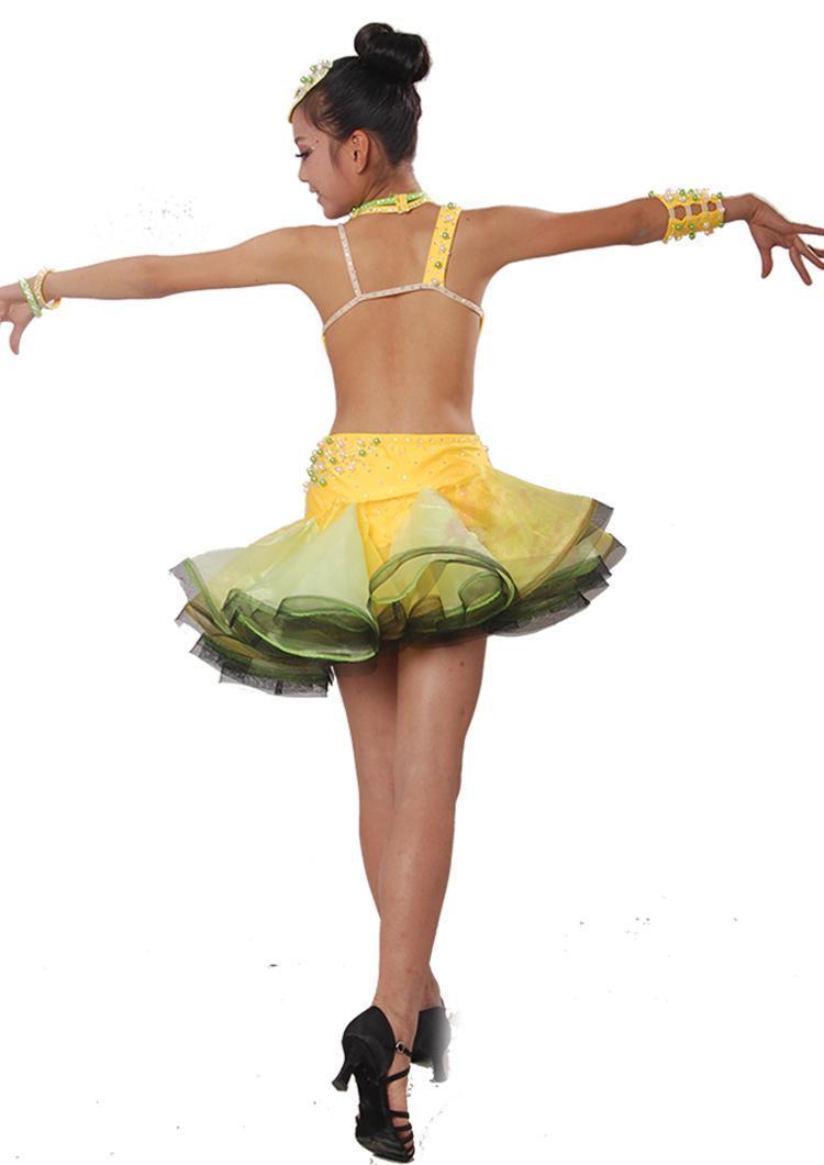 463d0825a65e Latin Dance Dress Children With Hand sewing Stone Girls Dance Dress Kids  Ballroom Dance Competition Rumba/Cha Cha/Tango Dresses-in Ballroom from  Novelty ...
