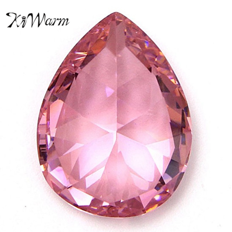 KiWarm 30.10CT 20X15MM Unheated Pink Sapphire Pear Cut Lustrous Loose Gemstone for DIY Jewellery Rings Pendant Making Craft Gift