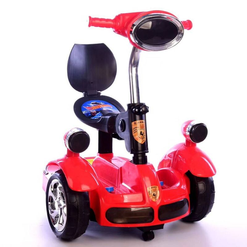 Fashion Children' Remote Control Car Balance Motor Van Ride on Electric Toys Kids RC Ride on Car Five Wheels Bumper Scooter Car peppa s car ride