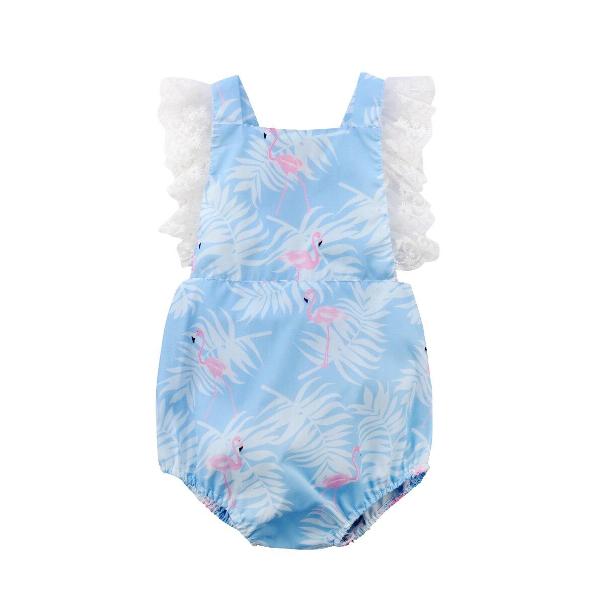 Симпатичные новорожденного для маленьких девочек мультфильм кружева боди комбинезон женский пляжный костюм Хлопок Bbay Одежда для девочек л...