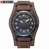 Relogio Masculino Curren Watch Men Brand Luxury Military Sport Quartz Mens Watches Waterproof Brown Leather Man