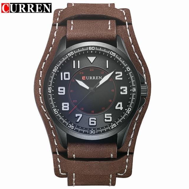 32cb00b1c5e Relogio Masculino Curren Watch Men Brand Luxury Military Sport Quartz Mens  Watches Waterproof Brown Leather Man Clock Wristwatch