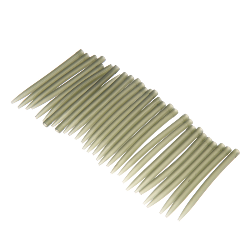 30pcs Per Set 53mm 0.28g Soft Rubber Anti-Tangle Sleeves Connect With Hook Carp Fishing Tackle Fishing Accessories