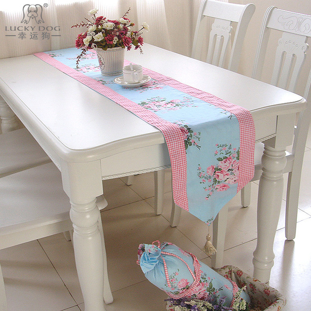Cotton fabric table cloth placemat table runner decorating double faced rustic adeline