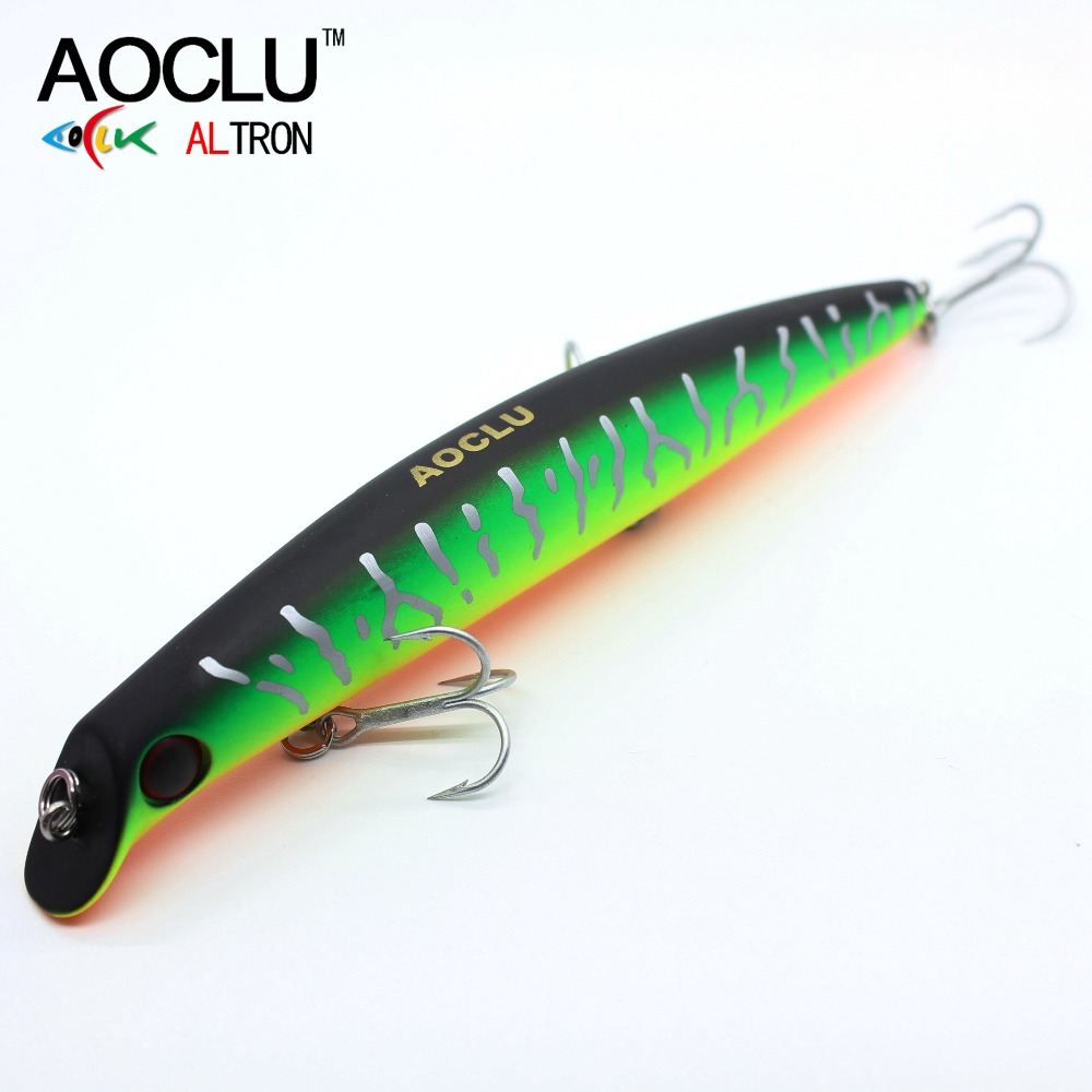AOCLU wobblers Super Quality 5 Colors 12cm 13.8g Hard Bait Minnow Crank Fishing lures Bass Fresh Salt water 6# VMC hooks wldslure 1pc 54g minnow sea fishing crankbait bass hard bait tuna lures wobbler trolling lure treble hook