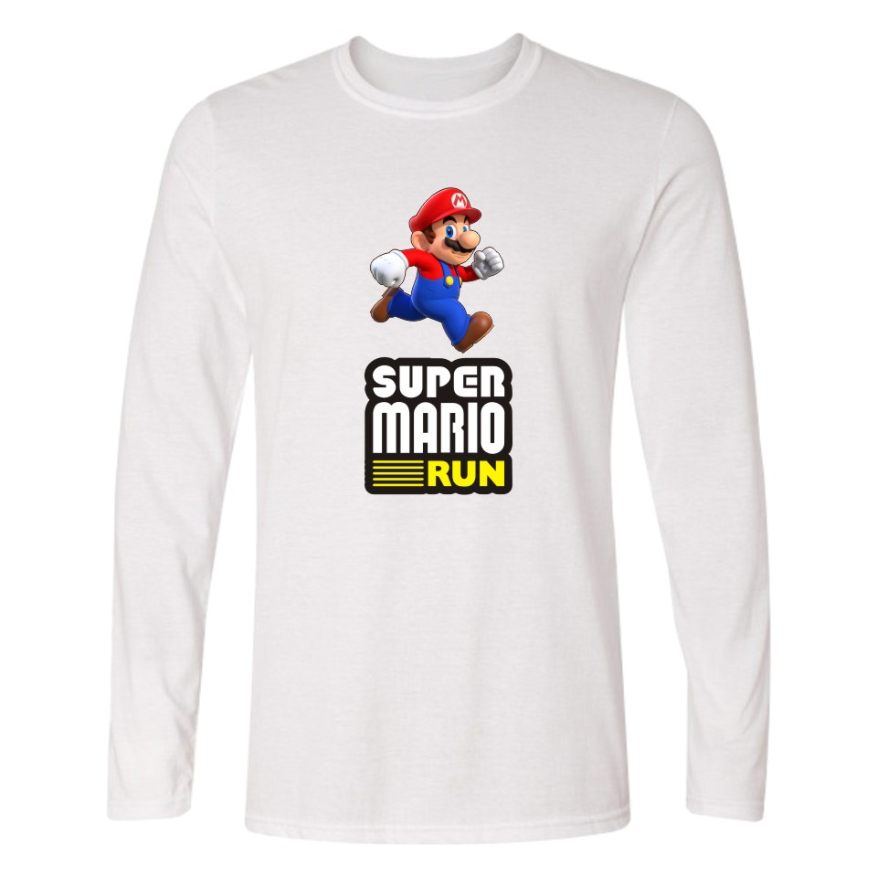 0b73b9b9935 Super MarioRun Anime Funny TShirts Long Sleeve T Shirts Men and Black  Cotton T shirt in Tee Shirt Long Plus Size XXS 4XL-in T-Shirts from Men s  Clothing on ...