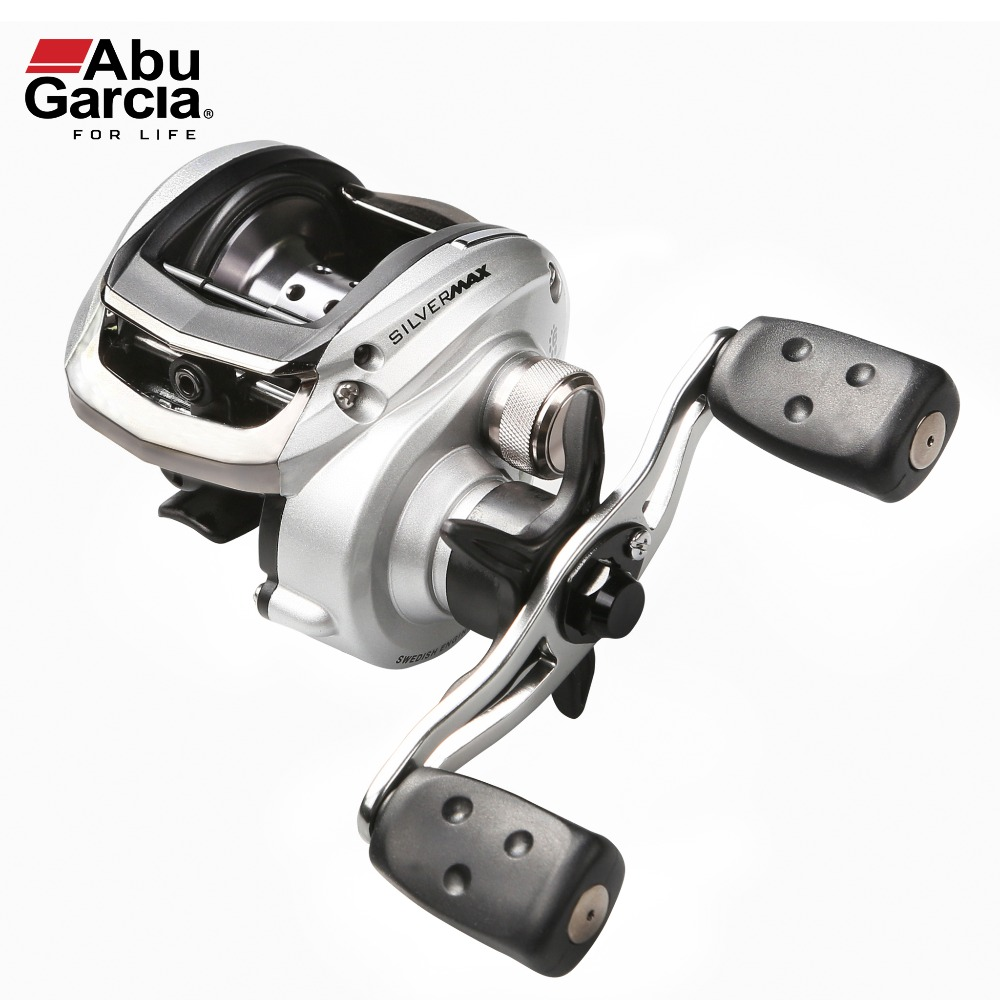 ABU GARCIA SILVER MAX3 6.4:1 Right Left Handed Magnetic Brake 5+1 Bearings 8KG Drag Baitcasting Fishing Reel 207g Weight abu garcia pmax3 l left hand bait casting reel drum trolling fishing reel 7 1 bb 7 1 1 207g drag 8kg line 12lb 132m tackle tools