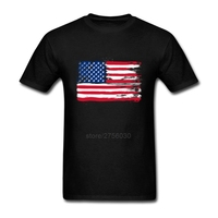 Tshirt Mens American Flag 4th Of July Independence Day T Shirts Plus Size Skateboard Kanye West