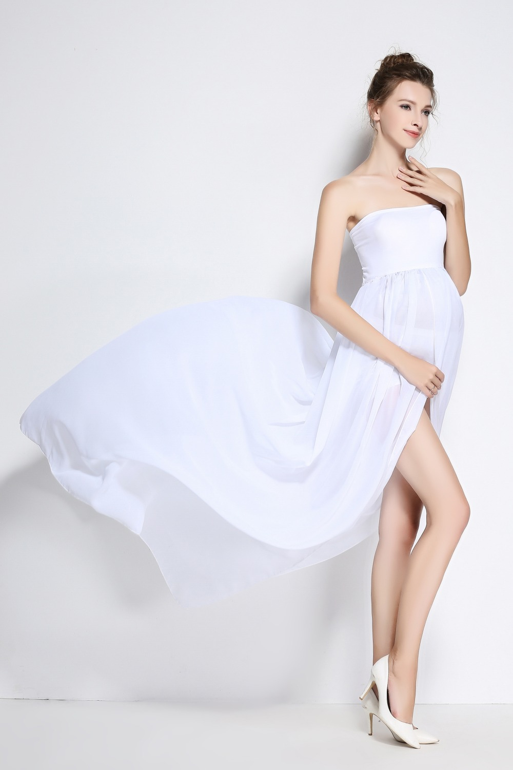Novelty maternity clothes reviews online shopping novelty new maternity photography props pregnancy clothes maxi maternity photography dress chiffon maternity dress for photography props ombrellifo Choice Image