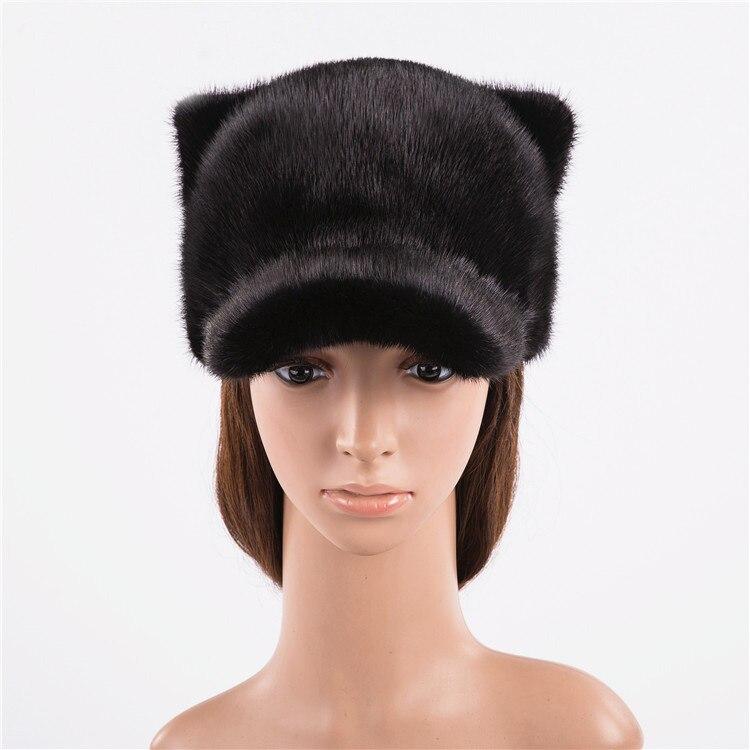 Шерстяные шапки бейсболки женские Зимние Повседневные шапки с жемчугом сплошной цвет - 3