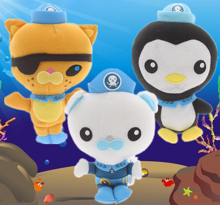 Octonauts Plush toys,17cm 7 inch Octoplush Peso Kwazii Captain Barnacles Soft Stuffed animal Dolls Kids Baby Birthday Gift ...