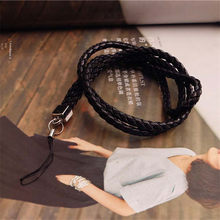 Fashion Weave lanyard for phone neck Mobile Phone Straps Phone Chain Lanyard Long ID Card Key USB Camera MP3 Hanging Badges key(China)