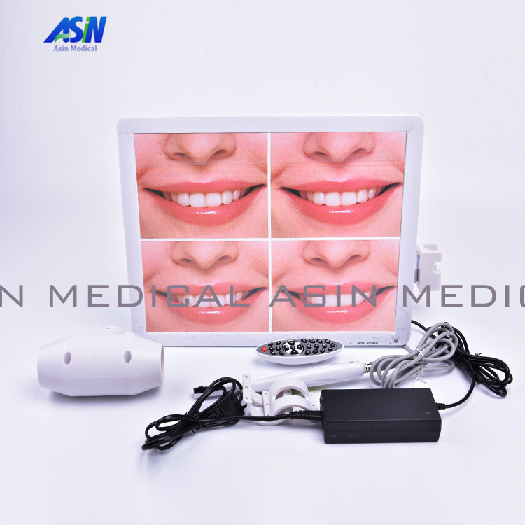 High Quality All in one intra Oral Camera System 500mega pixels 17inch LCD monitor with usb Dental endoscope With LCD holder