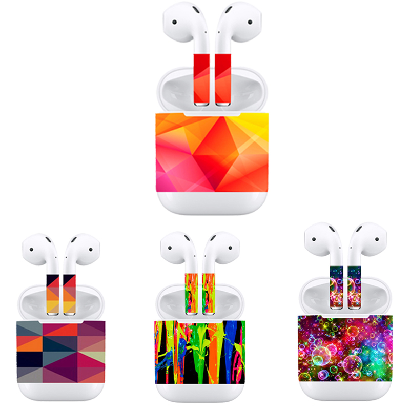 Skins Vinyl-Sticker Airpods Decal-Film Decorative for Apple Earphone Removable Adhesive title=