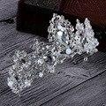 Moda tiara do casamento de cristal tiara de strass coroa tiara coroa de noiva para a noiva do casamento de prata jóias acessórios A448