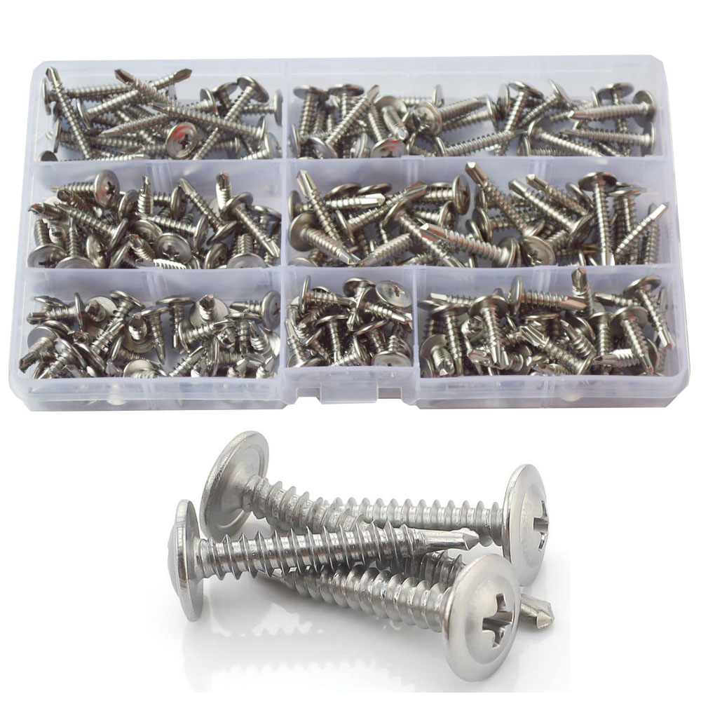LLAMA Fastener Nylon Drywall Anchors with Screws Set 60pcs #8x1-1//4 Screws 60pcs Nylon Anchors