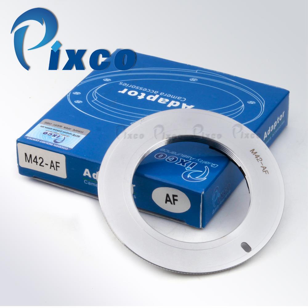 Pixco AF Confirm Non-autofocus Silver L.ens Adapter Suit For M42 to /sony /alpha minolta MA Camera A77II A99 A65 A77 A900A55 D7D