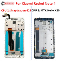 For Xiaomi Redmi Note 4 LCD Display Touch Screen With Frame Replacement Digitizer Assembly For Xiaomi