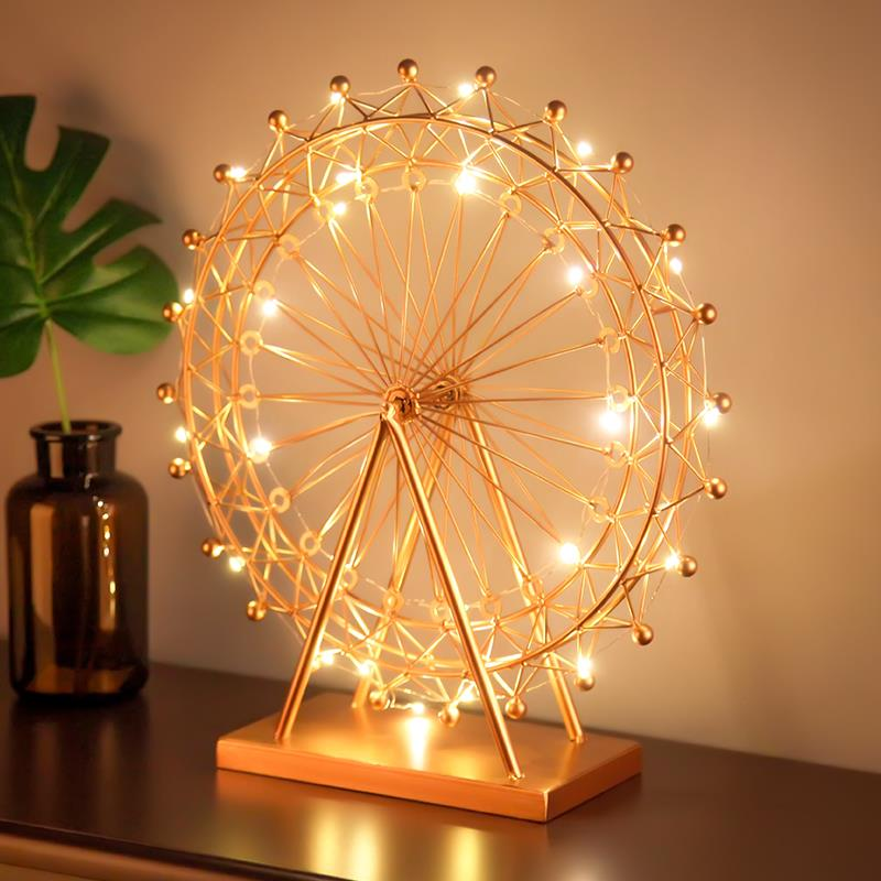 Nordic Ferris Wheel Metal Romantic Night Light Wedding