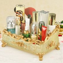 New cosmetic storage box desktop jewelry European creative resin makeup set device rack