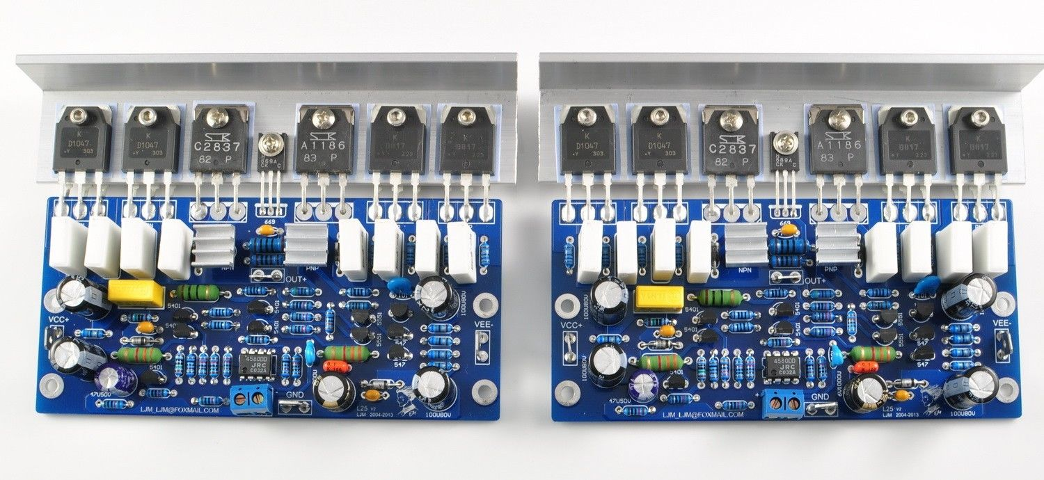 Assembled L25 Pre-stage Dual Channel Integrated Amplifier Board 250W 8R (2pcs) недорого