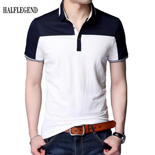 71e805324 Simple Hombre Tops Patchwork Solid Moda Juvenil de Moda Camisa de Algodón  Ocasional Masculina de Manga