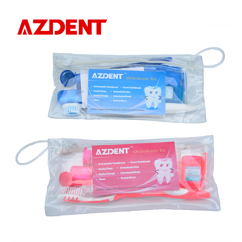 AZDENT Professional Teeth Whitening Strips Teeth Whitening Kit Tooth Brush Interdental brush Floss Oral Care Kit Oral Clean tool 1 kit dental orthodontic oral care interdental brush toothpick between teeth brush 3pcs kit570041
