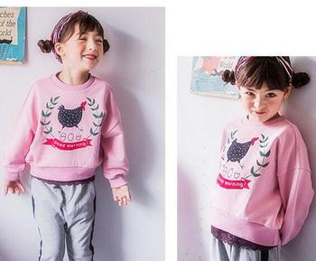 5pcs/lot Autumn Baby girls coat kids children clothing long sleeve Good morning sweatshirts 3-8T sylvia 557691331205