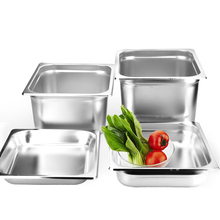 цена на GZZT 6pcs/lot Stainless steel 1/2 GN pan Plates Sets For Buffet Restaurant Commercial Kitchen Tools Soup Plates Bowl Sets