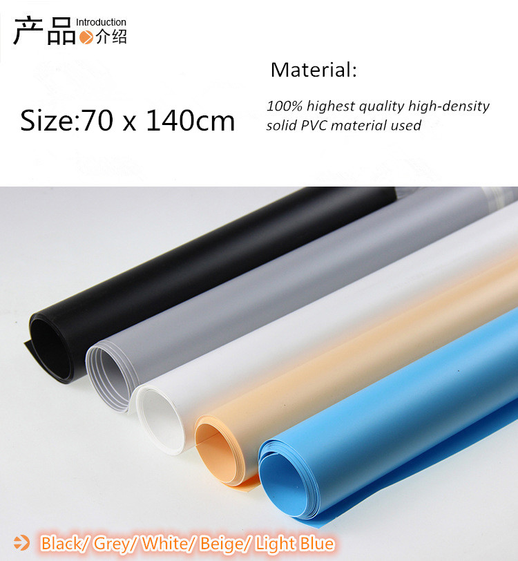 5PCS/lot 70 x 140cm 5 color PVC Material Background Backdrop Anti-wrinkle for Photo Studio Photography Lighting Background 50 50cm black matte pvc background for jewelry rings photo backdrop for jewelry mini items