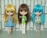 Darmowa Wysyłka tanie RBL NO.1-7 DIY Nude Blyth doll prezent urodzinowy Dla dziewczyny 4 kolor wielkie oczy lalki z piękne Włosy słodkie Zabawki
