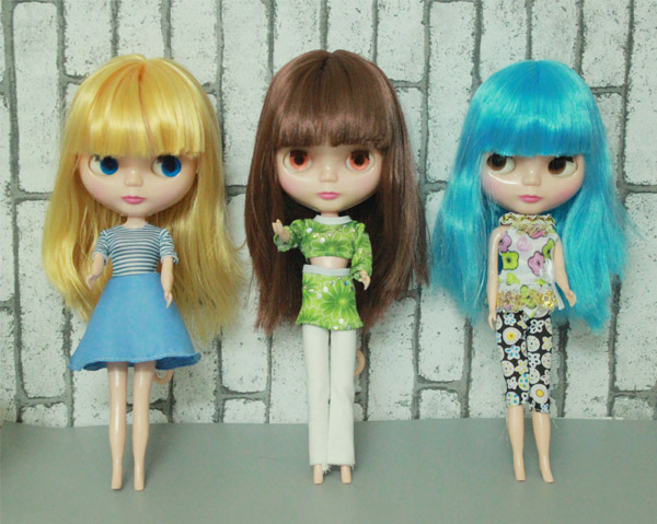 купить Free Shipping cheap RBL NO.1-7 DIY Nude Blyth doll birthday gift for girls 4 colour big eyes dolls with beautiful Hair cute toy дешево