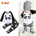 Baby Boys Girls Clothing Sets New 2016 Spring Summer Cartoon Panda T Shirts + Pants 2pcs/lot Children Clothing Fashion Suits