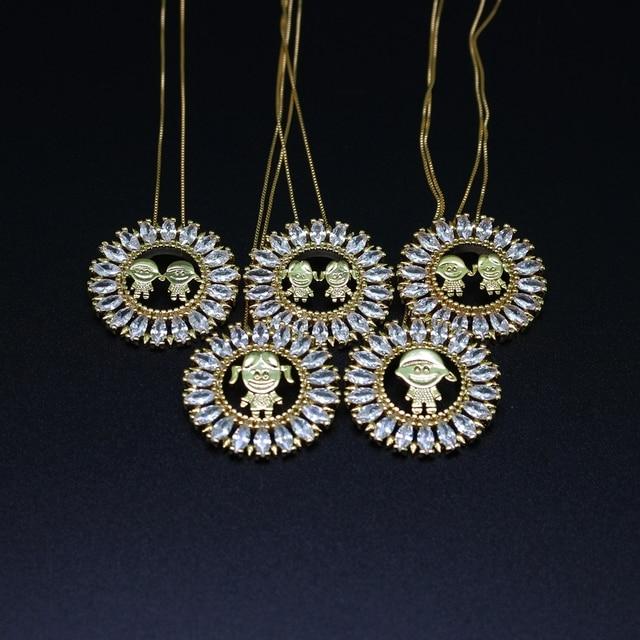 Mãe presente do Menino e menina colar de pingente de vidro de cristal  brilhante moda jóias 0f0f855a23511