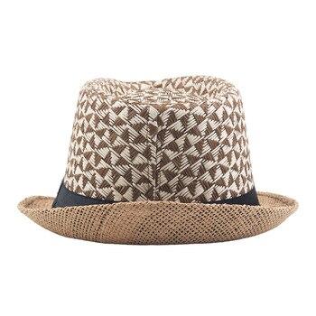 2019 Wholesale Summer Jazz Cap Beach Straw Caps Fedora Hats for Men Panama Sun Hat Men Women