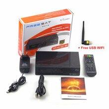 12pcs 100% Freesat V7 Combo 1080P Full HD DVB-S2+DVB-T2 Diginal Satellite TV Receiver Supports Powervu, Cccam bisskey + USB WIFI