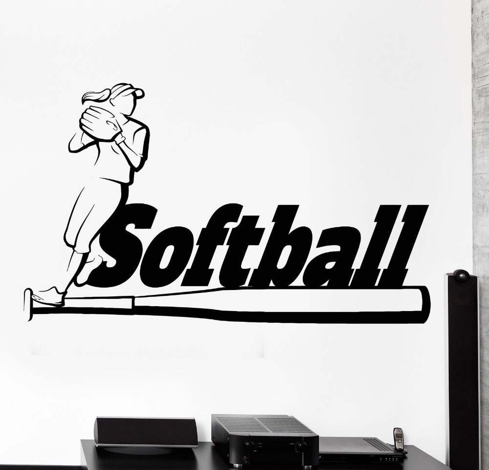 Softball wall stickers images home wall decoration ideas softball wall stickers choice image home wall decoration ideas high quality softball wall decals buy cheap amipublicfo Choice Image