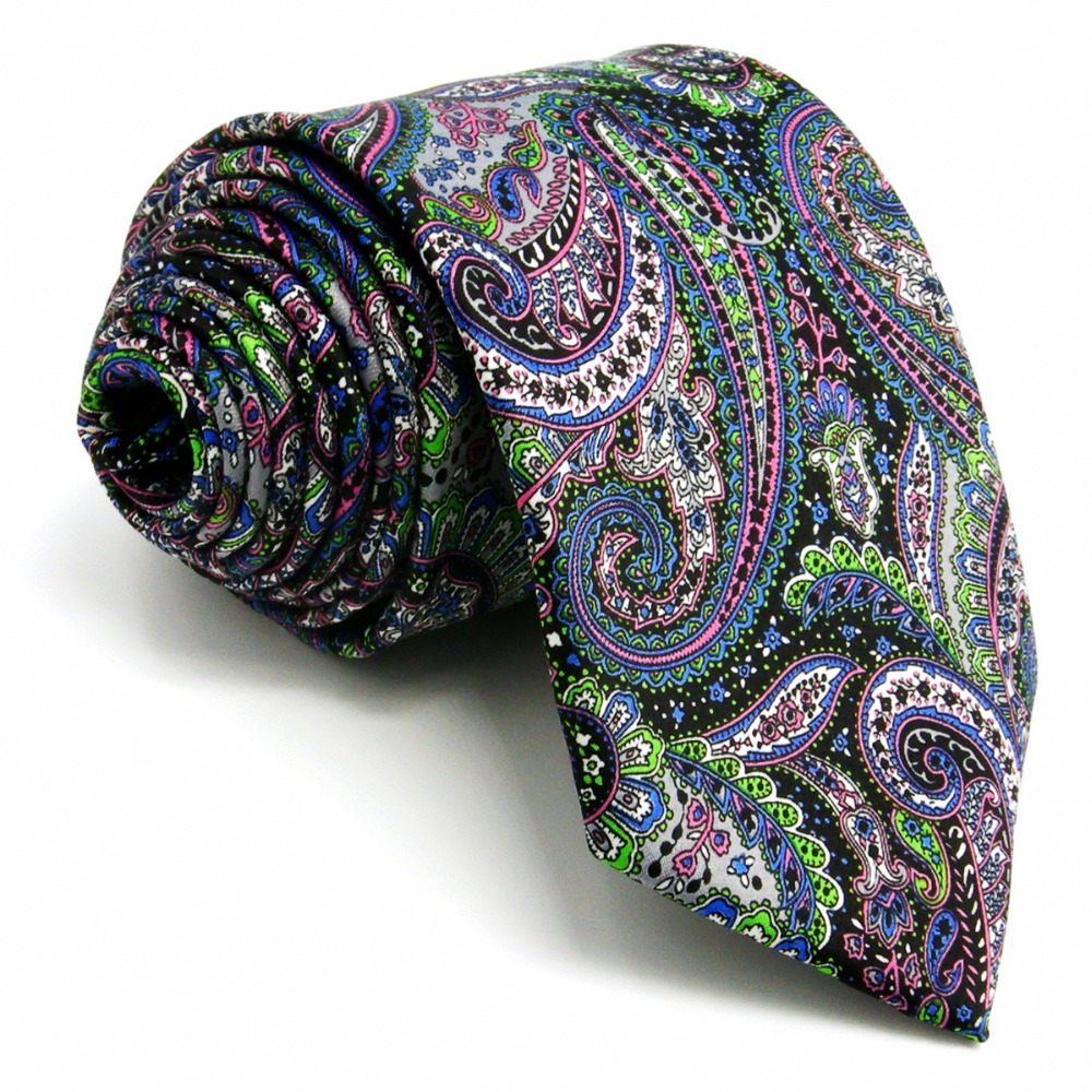 A28 Multicolor Paisley Silk Mens Necktie Tie Wedding Fashion Classic Novelty Ties for men Dress Brand New