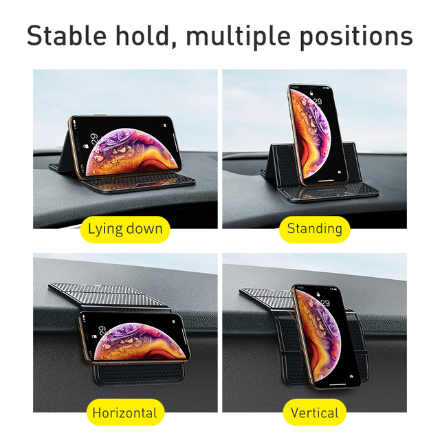 Baseus Universal Car Phone Holder for Cell Mobile Phone Wall Desk Sticker Multi Function Nano Rubber Pad