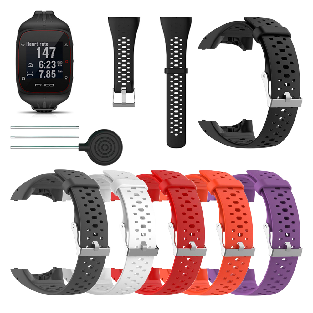 High Quality Silicone Replacement Wrist Watch Band for <font><b>Polar</b></font> M400 <font><b>M430</b></font> Smart Bracelet with Tool Smart watch Strap image