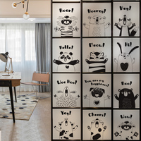 Free Custom Static Cling Window Film Frosted Opaque Privacy Stained Glass Sticker Home Decor BLT1698
